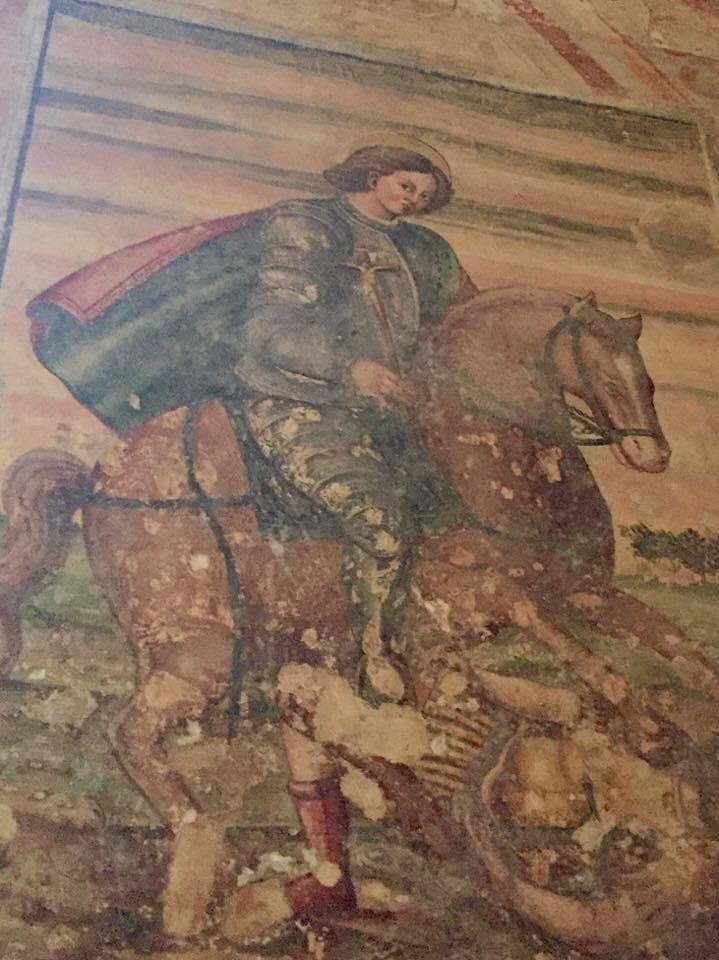 Affresco del 1700 nella Basilica dei XII Apostoli a Lodi Vecchio